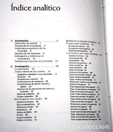 Libros de segunda mano: FOTOCOPIADO / Manual de mineralogía de Dana por Cornelius S. Hurlbut de Ed Reverté en Barcelona 1991 - Foto 3 - 209696283