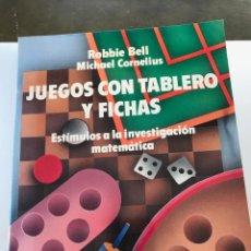 Libros de segunda mano de Ciencias: JUEGOS CON TABLERO Y FICHAS, ESTÍMULOS A LA INVESTIGACIÓN MATEMÁTICA-ROBBIE BELL.- MICHAEL CORNELIUS. Lote 210384132