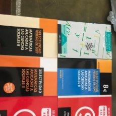 Livres d'occasion: LOTE DE LIBROS DE MATEMÁTICAS SELECTIVIDAD. Lote 210659516