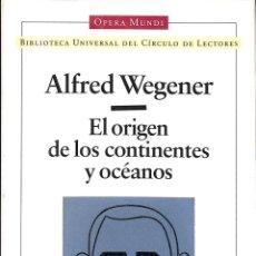 Libros de segunda mano de Ciencias: EL ORIGEN DE LOS CONTINENTES Y OCÉANOS (OPERA MUNDI). Lote 210839347