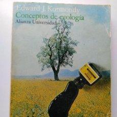 Libros de segunda mano: CONCEPTOS DE ECOLOGIA, EDWARD J. KORMONDY, 1969. Lote 210958430