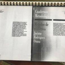 Libros de segunda mano de Ciencias: METODOS DE MUESTREO. CASOS PRACTICOS (JACINTO RODRIGUEZ OSUNA) Nº 6 (CIS) EN FOTOCOPIAS. Lote 211277012