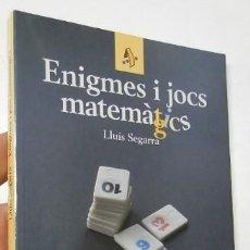 Libros de segunda mano de Ciencias: ENIGMES I JOCS MATEMÀGICS. Lote 211415740