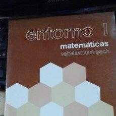 Libros de segunda mano de Ciencias: MATEMÁTICAS ENTORNO I. GACHILLERATO/ 1 (MADRID, 1984). Lote 211467055