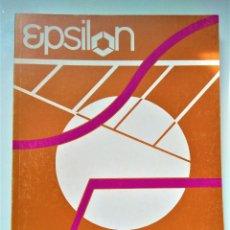 Libros de segunda mano de Ciencias: EPSILON. REVISTA DE LA SOCIEDAD ANDALUZA DE EDUCACIÓN MATEMÁTICA THALES Nº 12. Lote 211811898