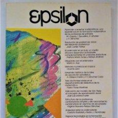 Libros de segunda mano de Ciencias: EPSILON. REVISTA DE LA SOCIEDAD ANDALUZA DE EDUCACIÓN MATEMÁTICA THALES Nº 30. Lote 211858047