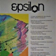 Libros de segunda mano de Ciencias: EPSILON. REVISTA DE LA SOCIEDAD ANDALUZA DE EDUCACIÓN MATEMÁTICA THALES Nº 31 Y 32. Lote 211858792