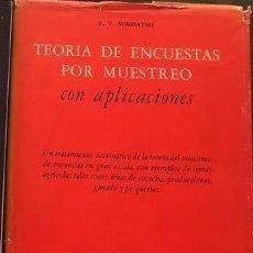 Libros de segunda mano de Ciencias: TEORÍA DE ENCUESTAS POR MUESTREO DE SURKHATME.. Lote 211958140