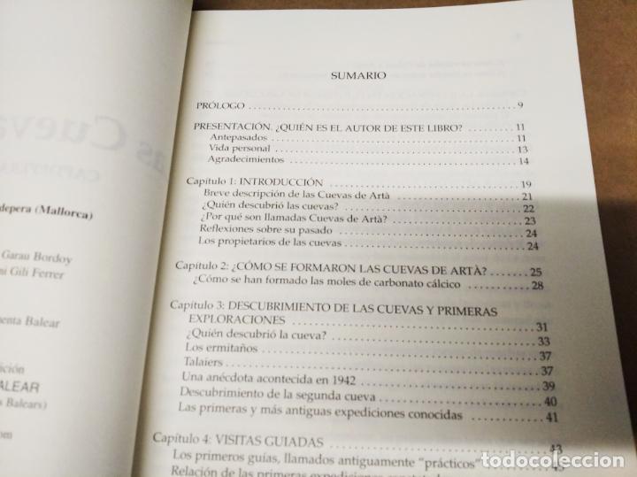 Libros de segunda mano: LAS CUEVAS DE ARTÀ . CLIMENT GARAU . EDICIONS DOCUMENTA BALEAR . 1ª EDICIÓN 2005 . MALLORCA - Foto 5 - 212153867