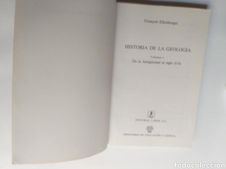 Libros de segunda mano: Historia de la geología . Volumen 1 de la antigüedad al siglo XVII . Francois Ellenberger - Foto 6 - 212620395