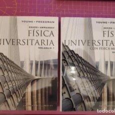 Libros de segunda mano de Ciencias: FÍSICA UNIVERSITARIA CON FISICA MODERNA - 2 TOMOS - YOUNG - FREEDMAN - SEARS - ZEMANSKY - 12ª ED.. Lote 226475680