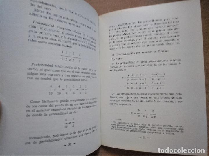Libros de segunda mano de Ciencias: Probabilidades, Conceptos, definiciones, teoremas fundamentales y ejercicios, Ruiz-Castillo, 1955 - Foto 4 - 213026082
