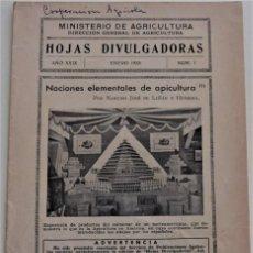 Livros em segunda mão: HOJAS DIVULGADORAS Nº 1 - ENERO 1935 - MINISTERIO DE AGRICULTURA -NOCIONES ELEMENTALES DE APICULTURA. Lote 213973117