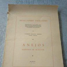 Libros de segunda mano: REGISTROS DE SELECCIÓN - ORGANIZACIÓN DE UNA MEJORA GANADERA (1956), VICENTE BOCETA, TOROS, VACAS.... Lote 214171266