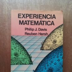 Libros de segunda mano de Ciencias: EXPERIENCIA MATEMATICA, PHILIP J DAVIS, REUBEN HERSH, MEC LABOR, 1988. Lote 235102350