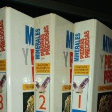 Libros de segunda mano: 3 FICHEROS.MINERALES Y PIEDRAS PRECIOSAS.RBA 1993.. Lote 214417417