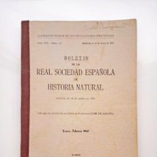 Libros de segunda mano: 1947 TOMO 45 - Nº 1-2 (ENERO - FEBRERO) BOLETÍN NARANJA HISTORIA NATURAL. Lote 41224853
