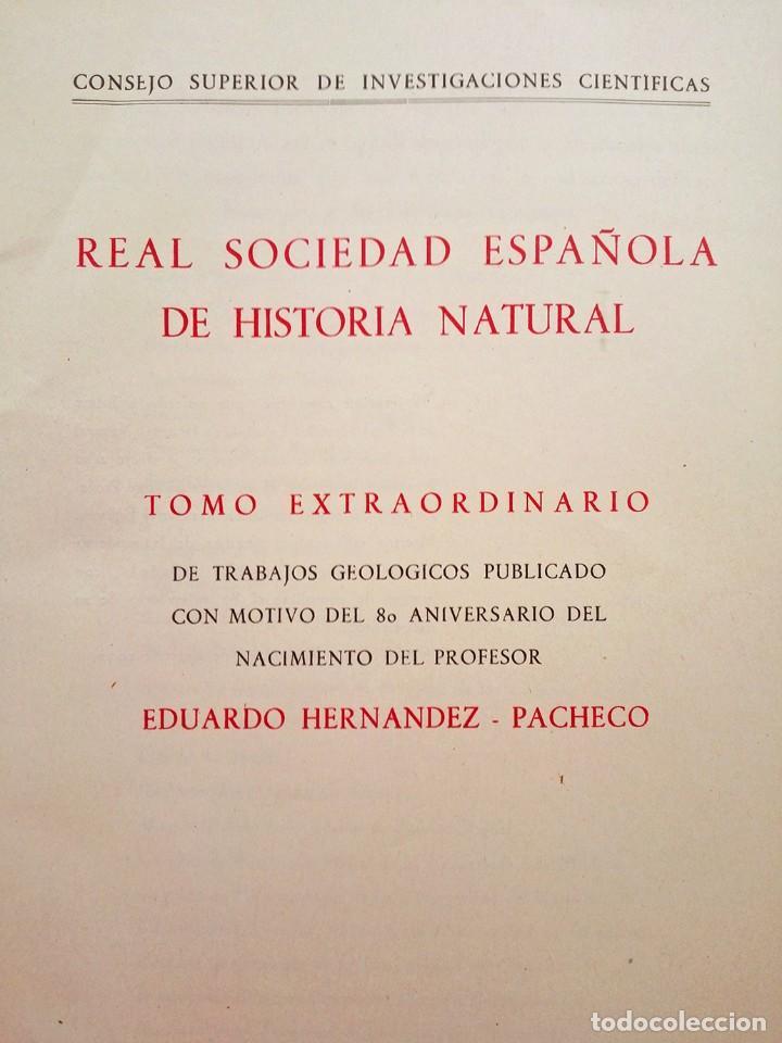 Libros de segunda mano: 1954 Boletín Extraordinario Historia Natural Real Sociedad Española - Eduardo Hernández Pacheco - Foto 4 - 49264461