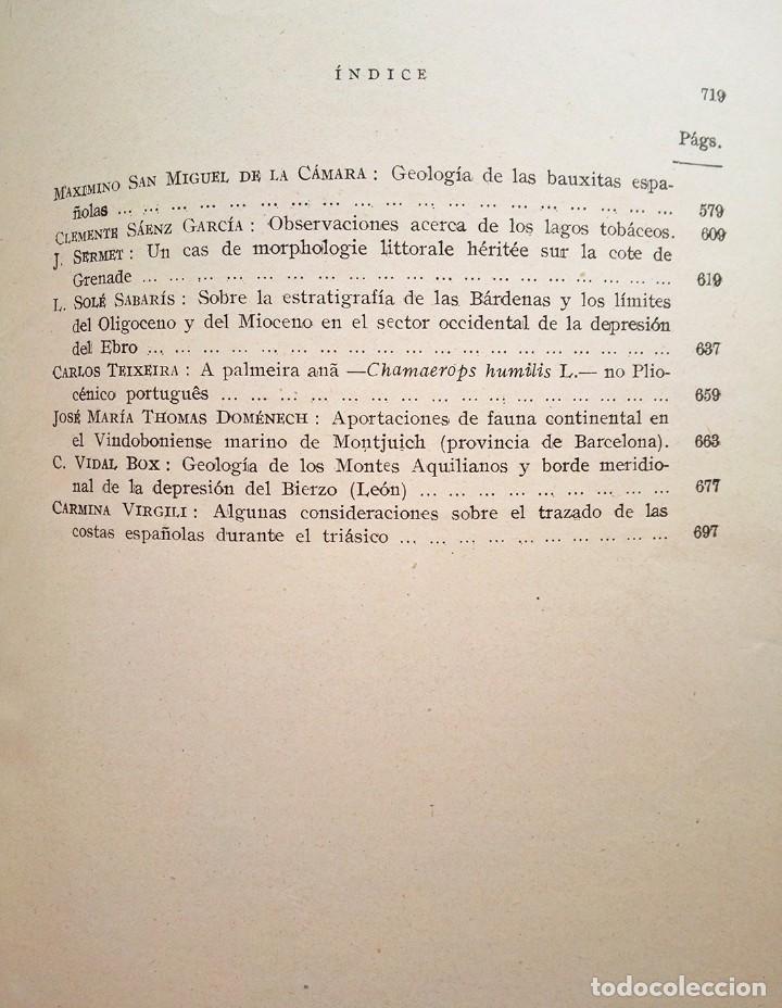 Libros de segunda mano: 1954 Boletín Extraordinario Historia Natural Real Sociedad Española - Eduardo Hernández Pacheco - Foto 8 - 49264461