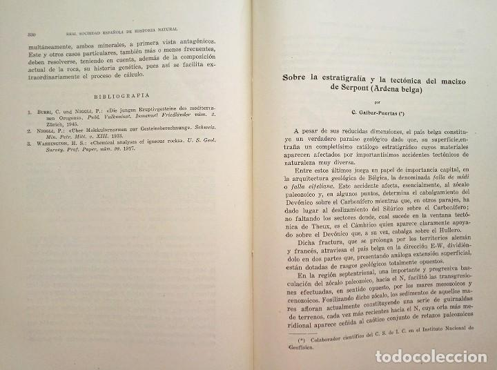 Libros de segunda mano: 1954 Boletín Extraordinario Historia Natural Real Sociedad Española - Eduardo Hernández Pacheco - Foto 9 - 49264461