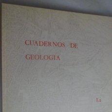 Libros de segunda mano: CUADERNOS DE GEOLOGÍA 1.2 - 1970. UNIVERSIDAD DE GRANADA. Lote 215257665