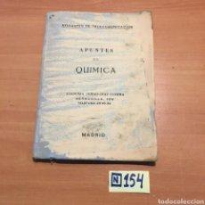 Libros de segunda mano de Ciencias: APUNTES DE QUÍMICA. Lote 215453508