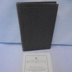 Livros em segunda mão: ELEMENTOS DE ENTOMOLOGIA GENERAL. GOZALO CEBALLOS. BIOLOGIAS. CONTIENE LIBRILLO AÑO 1956. Nº 5.. Lote 215676536