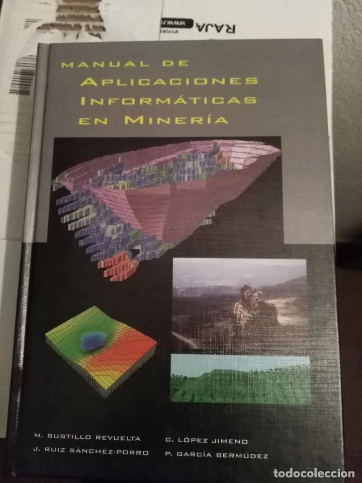 MANUAL DE APLICACIONES INFORMÁTICAS EN MINERÍA - BUSTILLO REVUELTA (Libros de Segunda Mano - Ciencias, Manuales y Oficios - Paleontología y Geología)