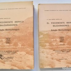 Libros de segunda mano: Mª JESÚS IBAÑEZ. EL PIEDEMONTE IBÉRICO BAJOARAGONÉS. ESTUDIO GEOMORFOLÓGICO Y MAPAS (2 TOMOS), 1976. Lote 215947432