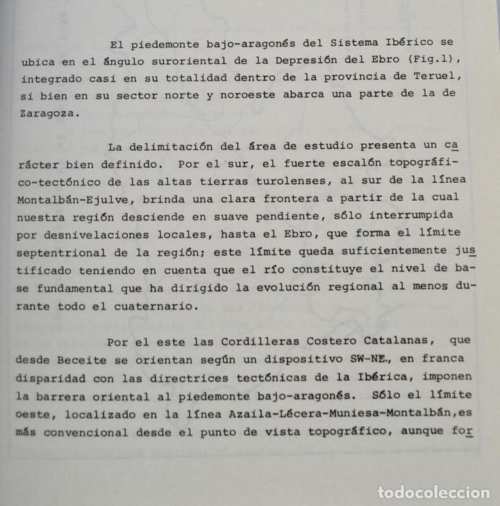 Libros de segunda mano: Mª Jesús Ibañez. El Piedemonte Ibérico Bajoaragonés. Estudio Geomorfológico y Mapas (2 Tomos), 1976 - Foto 6 - 215947432