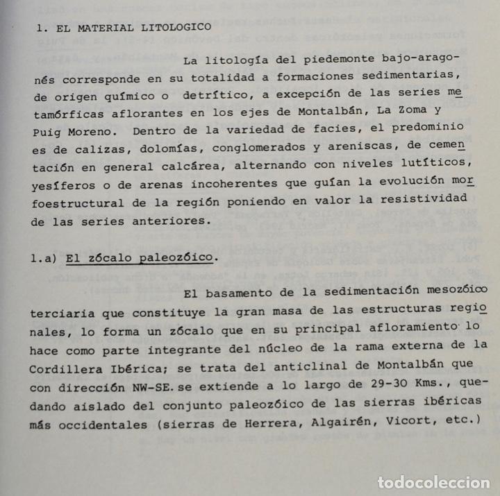 Libros de segunda mano: Mª Jesús Ibañez. El Piedemonte Ibérico Bajoaragonés. Estudio Geomorfológico y Mapas (2 Tomos), 1976 - Foto 8 - 215947432