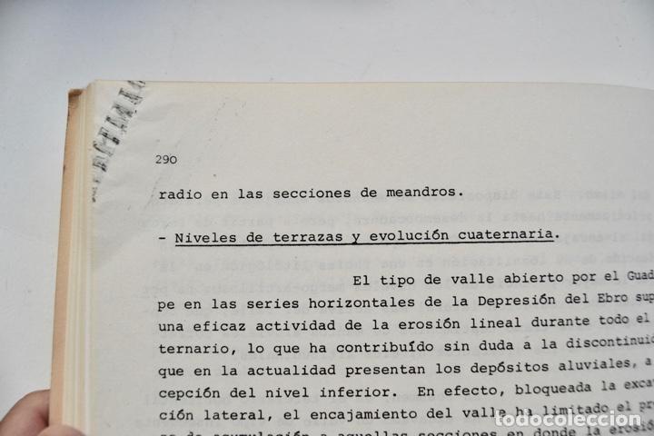 Libros de segunda mano: Mª Jesús Ibañez. El Piedemonte Ibérico Bajoaragonés. Estudio Geomorfológico y Mapas (2 Tomos), 1976 - Foto 10 - 215947432