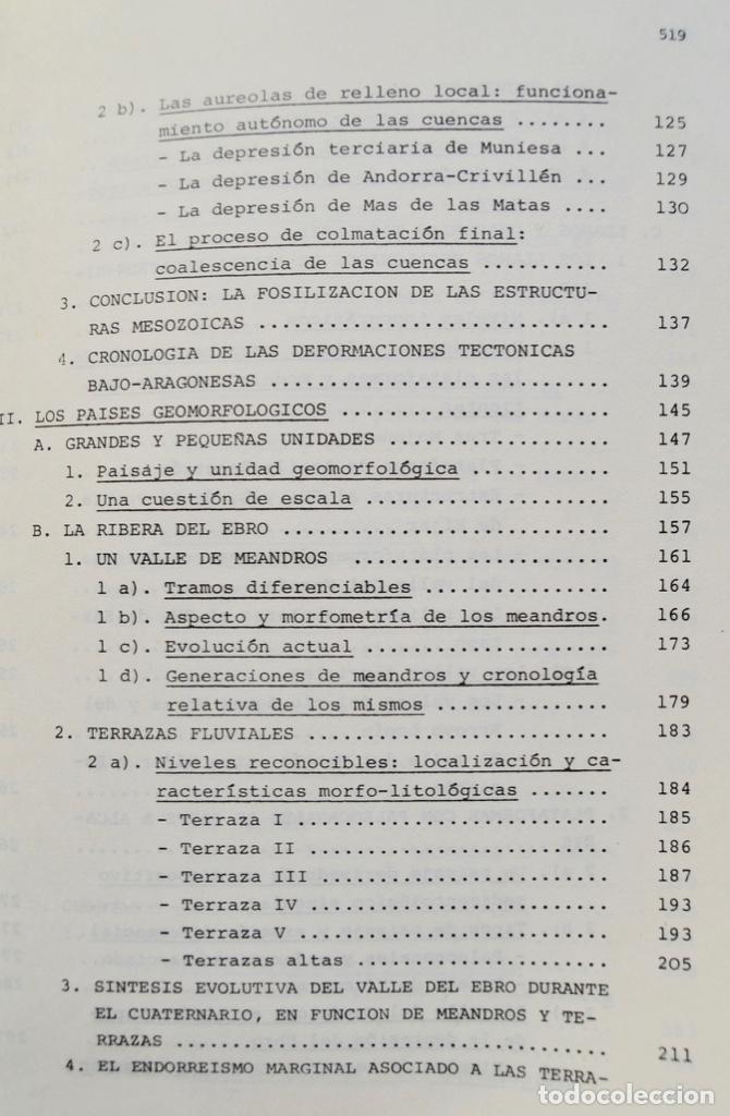 Libros de segunda mano: Mª Jesús Ibañez. El Piedemonte Ibérico Bajoaragonés. Estudio Geomorfológico y Mapas (2 Tomos), 1976 - Foto 18 - 215947432