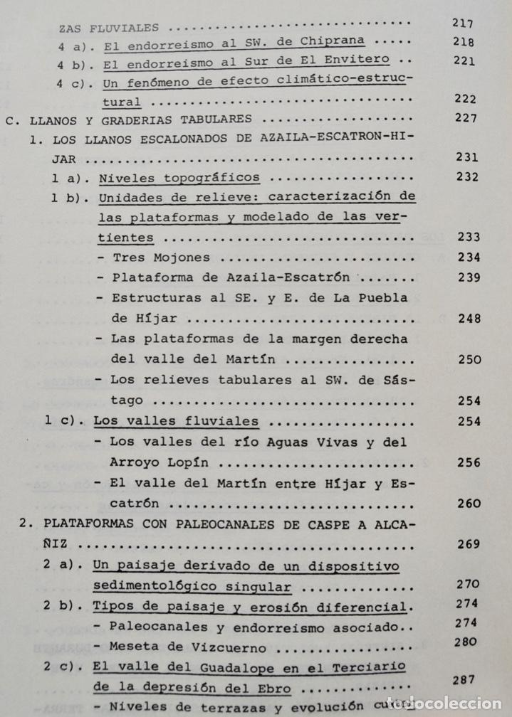Libros de segunda mano: Mª Jesús Ibañez. El Piedemonte Ibérico Bajoaragonés. Estudio Geomorfológico y Mapas (2 Tomos), 1976 - Foto 19 - 215947432