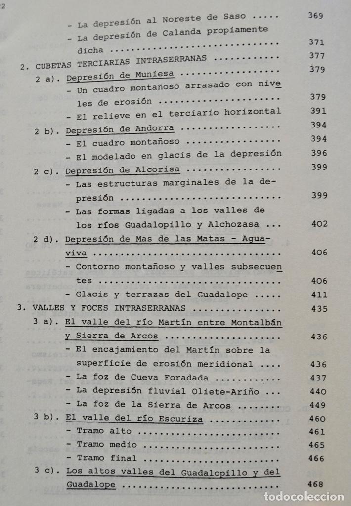 Libros de segunda mano: Mª Jesús Ibañez. El Piedemonte Ibérico Bajoaragonés. Estudio Geomorfológico y Mapas (2 Tomos), 1976 - Foto 21 - 215947432