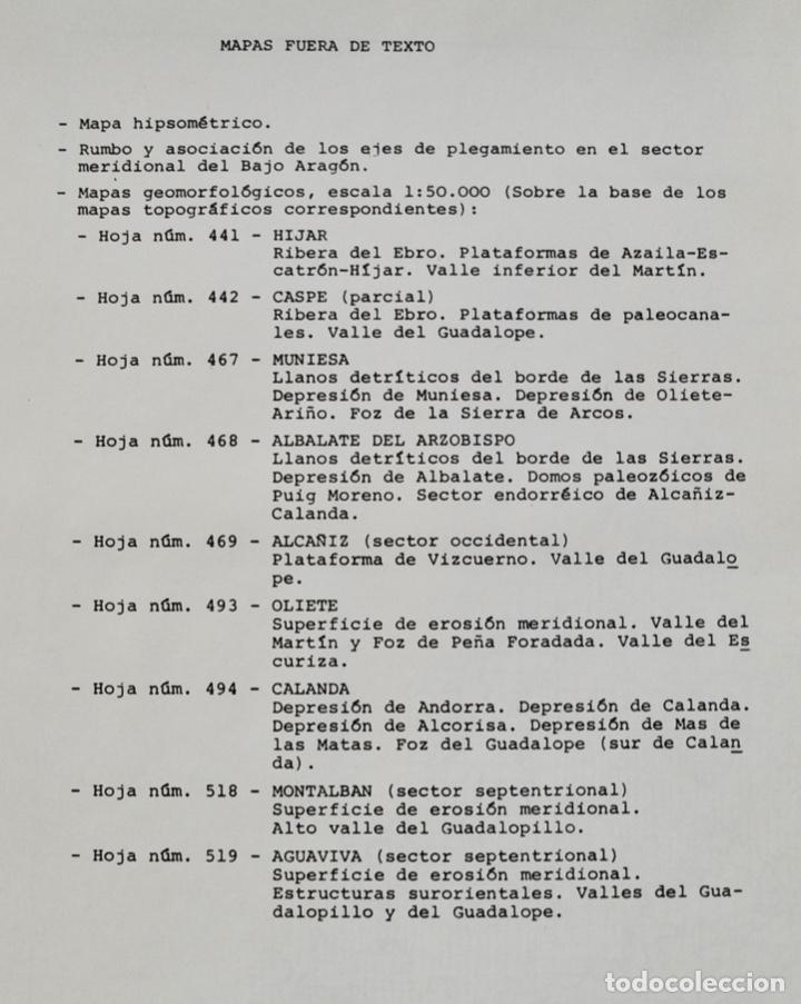 Libros de segunda mano: Mª Jesús Ibañez. El Piedemonte Ibérico Bajoaragonés. Estudio Geomorfológico y Mapas (2 Tomos), 1976 - Foto 24 - 215947432