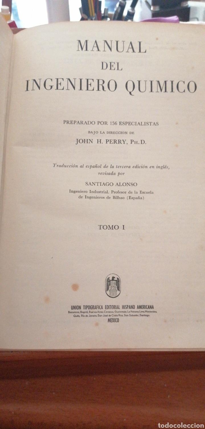 Libros de segunda mano de Ciencias: JONH H. PERRY MANUAL DEL INGENIERO QUÍMICO AÑO 1958 - Foto 3 - 216459256