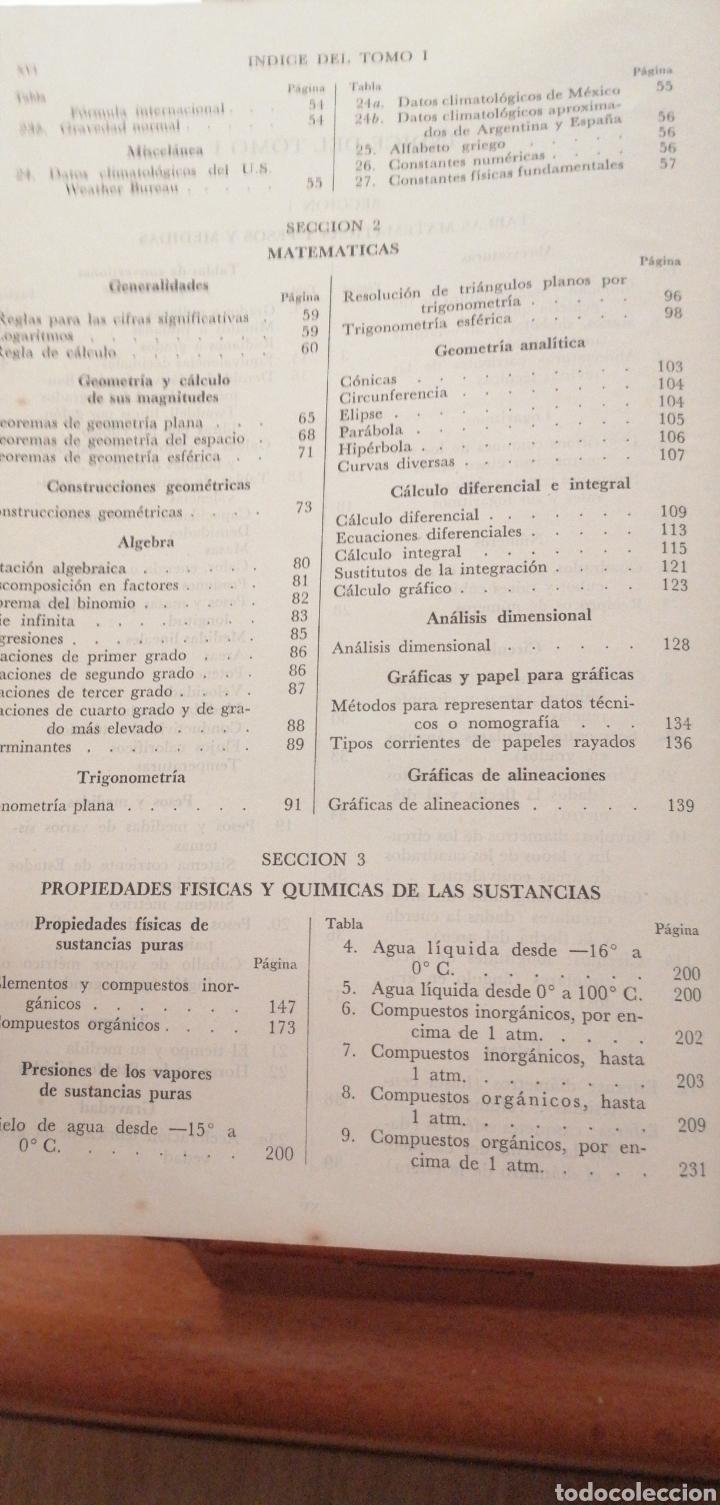 Libros de segunda mano de Ciencias: JONH H. PERRY MANUAL DEL INGENIERO QUÍMICO AÑO 1958 - Foto 8 - 216459256