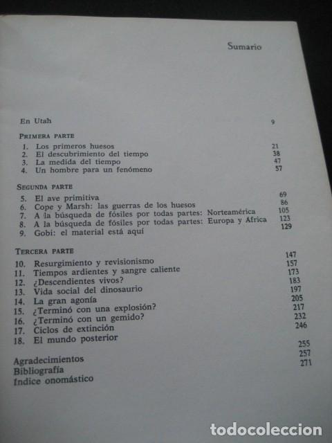 Libros de segunda mano: EL ENIGMA DE LOS DINOSAURIOS. FOSILES, PALEONTOLOGIA - Foto 2 - 216725662