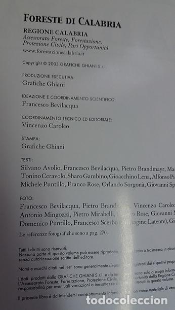 Libros de segunda mano: FORESTE DI CALABRIA, LIBRO EN ITALIANO,(BOSQUES DE CALABRIA) - Foto 3 - 217358128