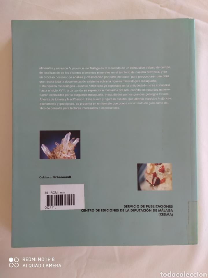 Libros de segunda mano: MINERALES Y ROCAS DE LA PROVINCIA DE MÁLAGA. JUAN CARLOS ROMERO SILVA. - Foto 2 - 217514845