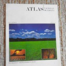Libros de segunda mano: ATLAS NACIONAL DE ESPAÑA: SECCION X PROBLEMAS MEDIO AMBIENTALES 1991. Lote 217823991