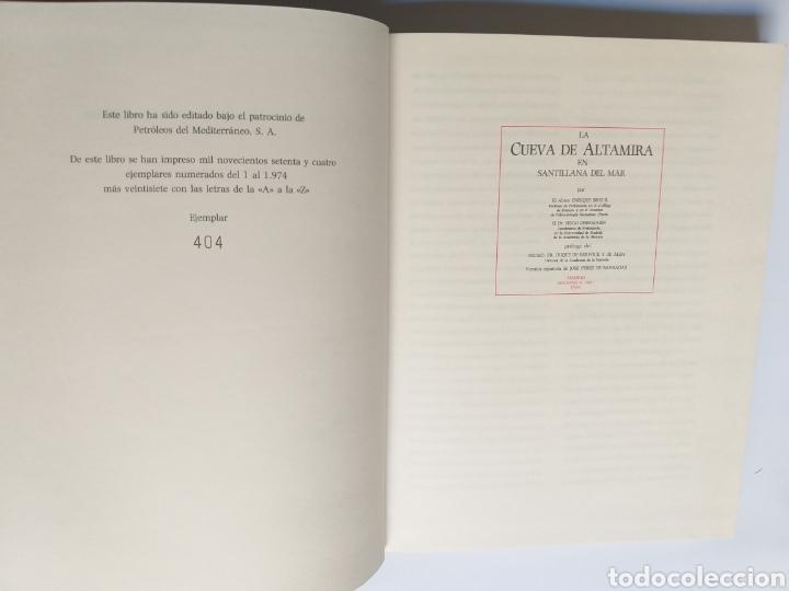 Libros de segunda mano: La cueva de Altamira en Santillana del Mar por el abate Enrique Breuil . Edición 1984 Cantabria - Foto 10 - 217875805