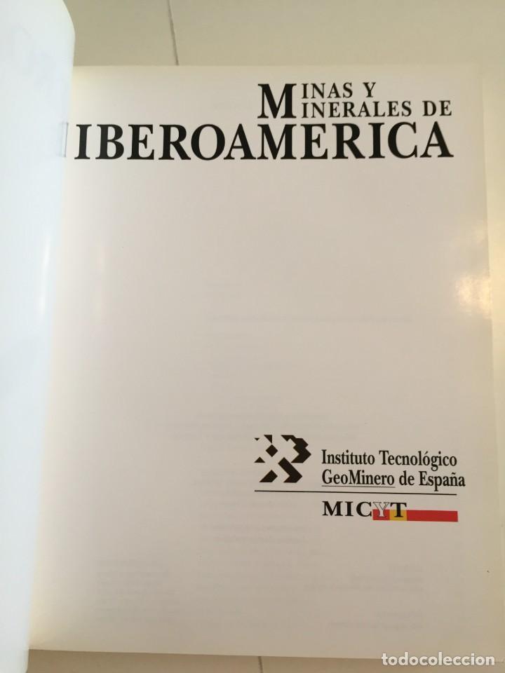Libros de segunda mano: MINAS Y MINERALES DE IBEROAMERICA. INSTITUTO TECNOLÓGICO GEOMINERO DE ESPAÑA. MICYT. B. CALVO. - Foto 8 - 217988931