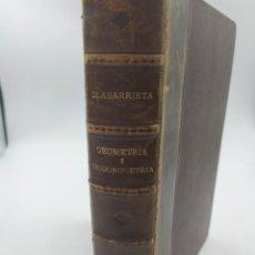 Libros de segunda mano de Ciencias: GEOMETRÍA TRIGONOMETRÍA. OLABARRIETA.1945.4ª EDICIÓN. Lote 218495135