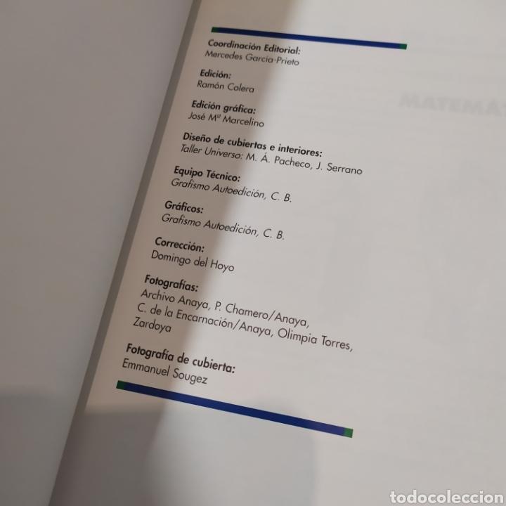Libros de segunda mano de Ciencias: MATEMATICAS II- BACHILLERATO LOGSE 2, . COLERA Y OTROS. ED, ANAYA 1997. 420 PAGINAS. - Foto 6 - 218549426