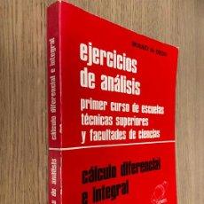 Libros de segunda mano de Ciencias: EJERCICIOS DE ANÁLISIS - BRAULIO DE DIEGO - DEIMOS - 1980 - 2ª ED AUMENTADA. Lote 218629287