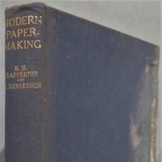 Livros em segunda mão: MODERN PAPER-MAKING. HENDERSON. Lote 218634821
