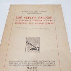 Libros de segunda mano: LOS.SUELOS.SALIKOS ,RICARSO GRANDE COVIAN , MADRID 1956. Lote 218904707