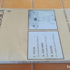 Libros de segunda mano: ANTHROPOLOGICA 6 INSTITUTO ANTROPOLOGIA DE BARCELONA DAIMON X 102. Lote 219889996